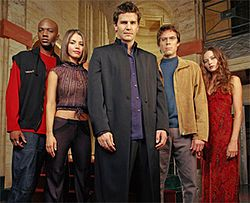 Angel is an American television series, a spin-off of the television series Buffy the Vampire Slayer. The show details the ongoing trials of Angel, a vampire whose human soul was restored to him by gypsies as a punishment for the murder of one of their own. After more than a century of murder and the torture of innocents, Angel's restored soul torments him with guilt and remorse.