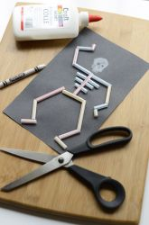 Kindergarten Halloween Activities: Make A Straw Skeleton