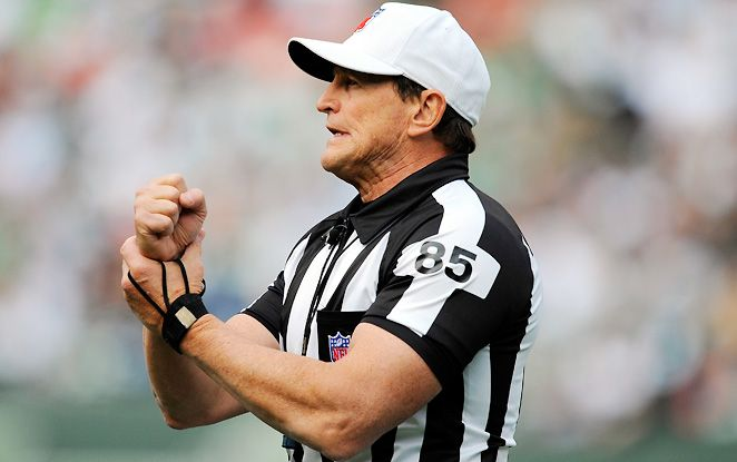 """I asked Ed Hochuli how many curls he's been doing: """"As soon as I heard the rumors today, I got down on the floor and started doing pushups."""""""