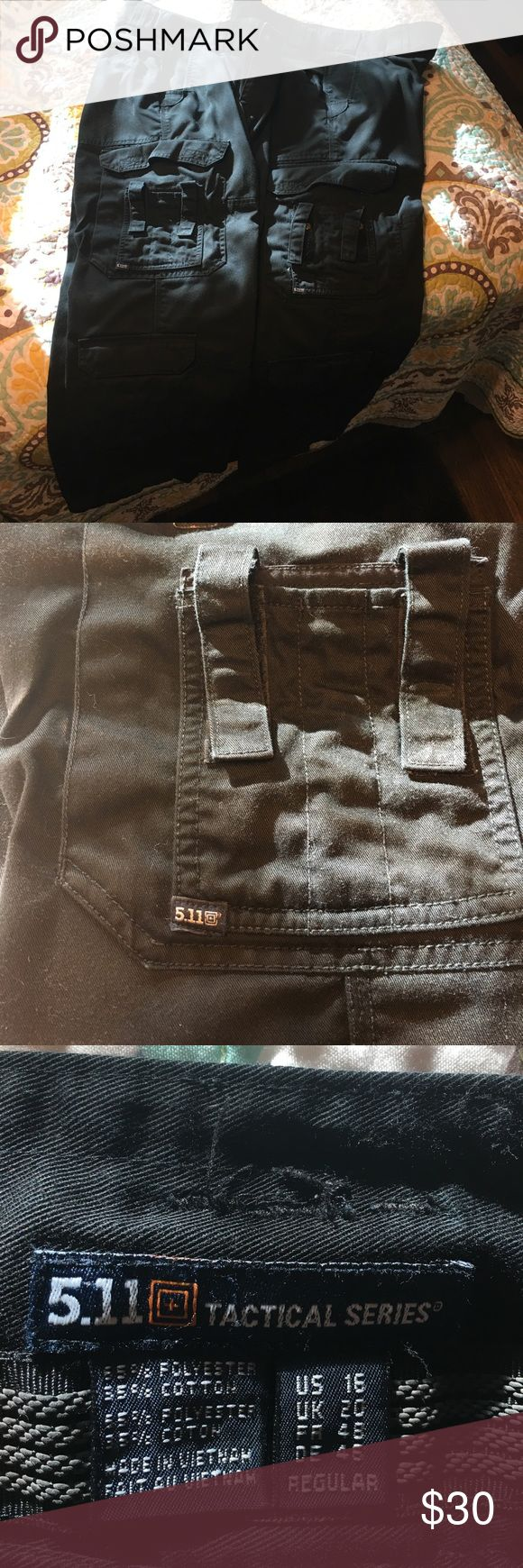 """511 Tactile EMT pants 2 pairs of Black 511 Tactical EMT trousers, in excellent shape! Many cargo pockets, inseam 30.5"""", waist across laying flat 18.5"""" 511 Pants Trousers"""
