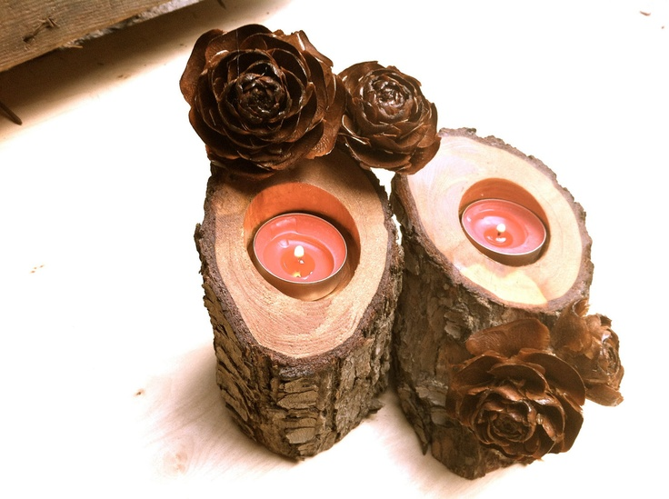 Wooden candle holder, woodworking, wood candle holders, wood, rustic home decor, rustic wedding decoration