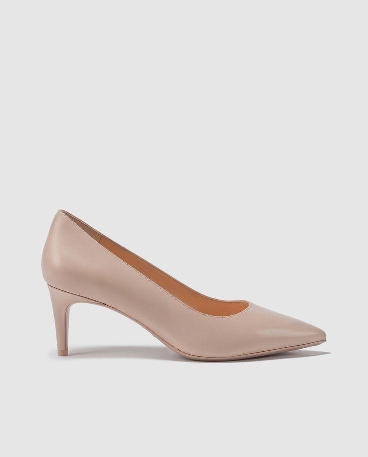 Zapatos de salón de mujer Nine West de piel en color beige