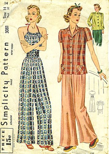 1930s pajamas from Simplicity.