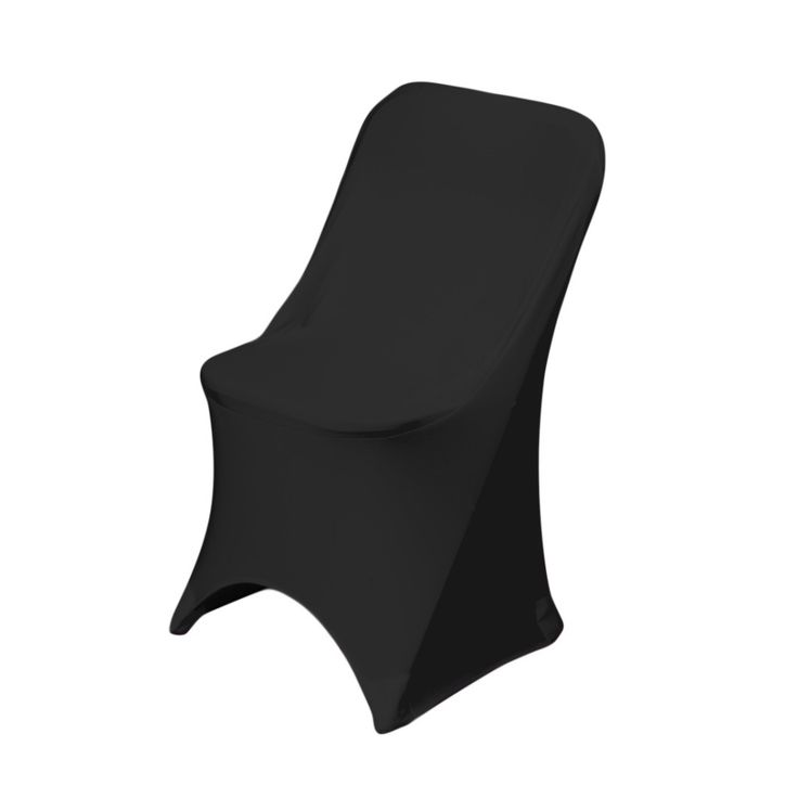 Black Stretch Folding Chair Covers For Weddings And Events A Cover Conforms To The Contours Of Chairs Just Like Spandex
