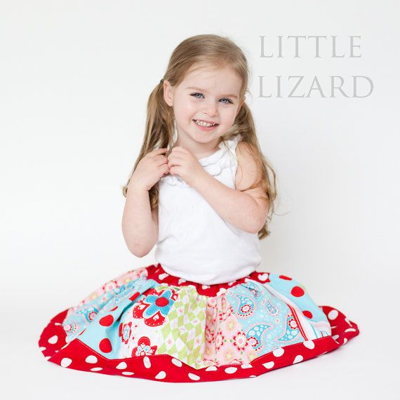 Girls Twirl Skirt - SEWING PATTERN, Girls and Dolls, 3m - 10, Little Girl Twirl
