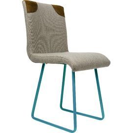 Loisa Chair in Grey & Turquoise by GieEl