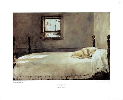 Wyeth -Master Bedroom-  just got it framed will be hanging in my front room soon!