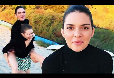 Kendall Jenner and Gigi Hadid lark about in BTS Vogue video