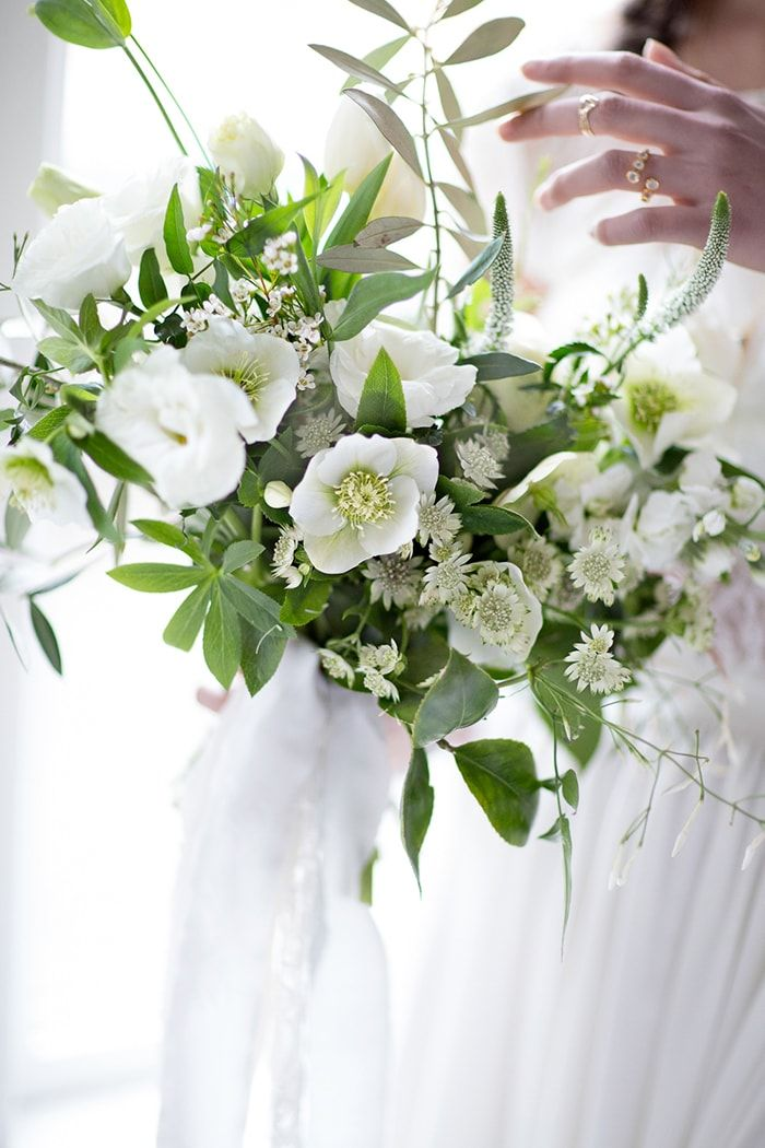 321 best classic white and green flowers images on pinterest finding your own bridal style once wed white bridal bouquetswedding mightylinksfo Images