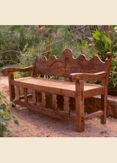 Custom made Mexican 'Colonial Style' bench by Hacienda Style, Joe P. Car & Karen Witnyski Carr. all rights reserved