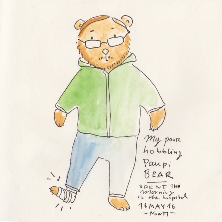 (Diary-Picture 357/365) 16 MAY – My poor hobbling Bear
