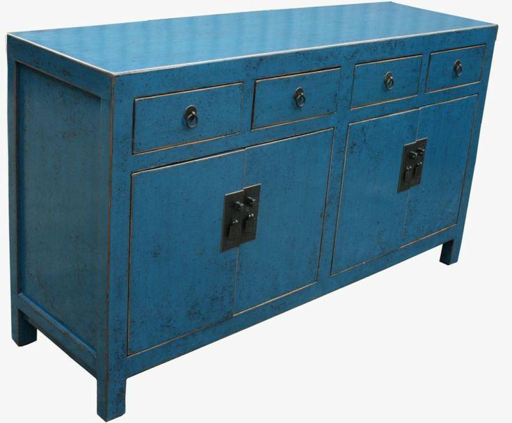 Original Chinese Blue Sideboard Buffet Sideboard Buffet
