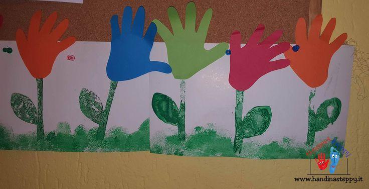 Fiori al vento in asilo nido | Impronte Mani | Lavoretti bambini