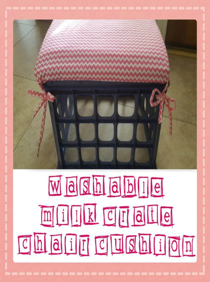 Washable milk crate seat cushions craft diy for Milk crate crafts