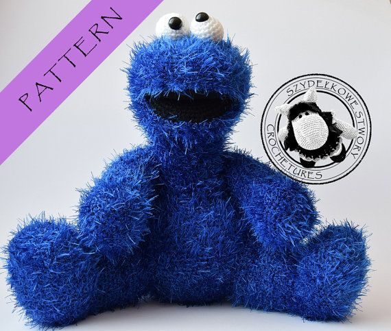 Amigurumi Cookie Monster Pattern : Cookie Monster crochet pattern Cookie monster, Patterns ...