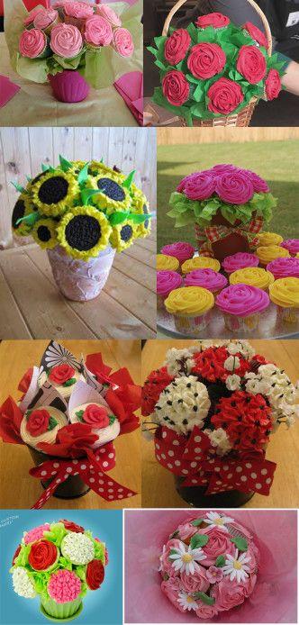 bouquet de cupcake collage