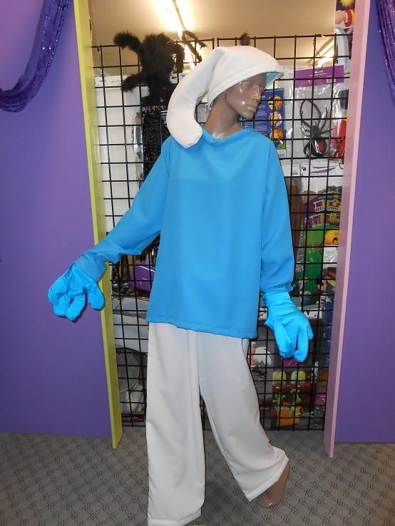 Smurf Available in size med - Lge for hire