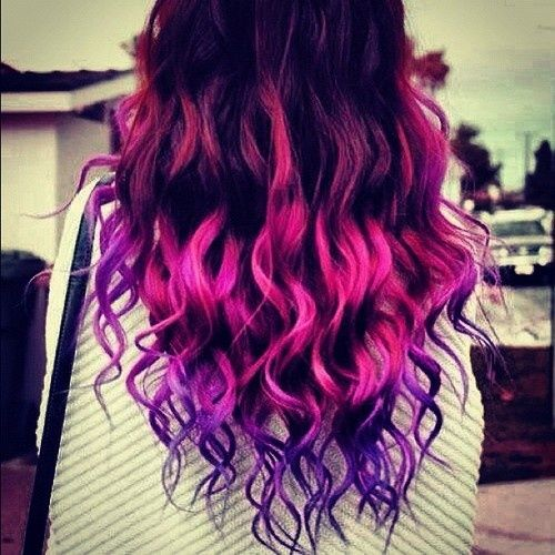 pink and purple ombre hair | Hair & Make-up | Pinterest ...