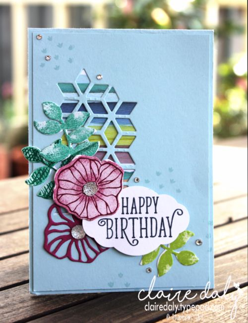 Oh So Eclectic bundle birthday card by Claire Daly Stampin' Up! Demonstrator Melbourne Australia.