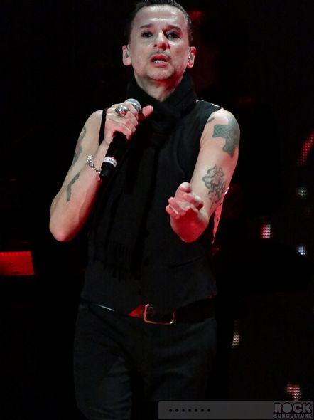 Dave Gahan, Depeche Mode Delta Machine tour 2013, photo by Jason Debord.