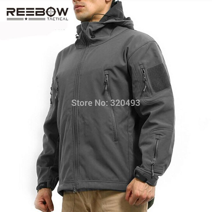 REEBOW TACTICAL Military Men Outdoor Winter Jacket Softshell Waterproof Camouflage Thermal Coat Camping Sports Outwears