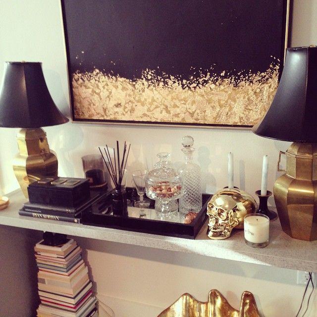 494 best BlackWhite Gold decor images on Pinterest Home ideas