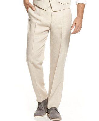 Tasso Elba Men's Linen Pants - Mens Linen Pants - SLP - Macy's