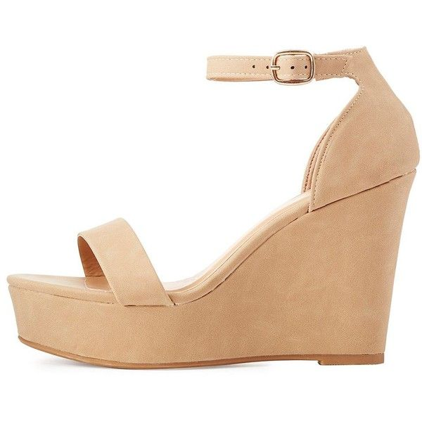 Bamboo Two-Piece Wedge Sandals ($26) ❤ liked on Polyvore featuring shoes, sandals, natural, padded sandals, platform sandals, cushioned shoes, platform shoes and platform wedge sandals