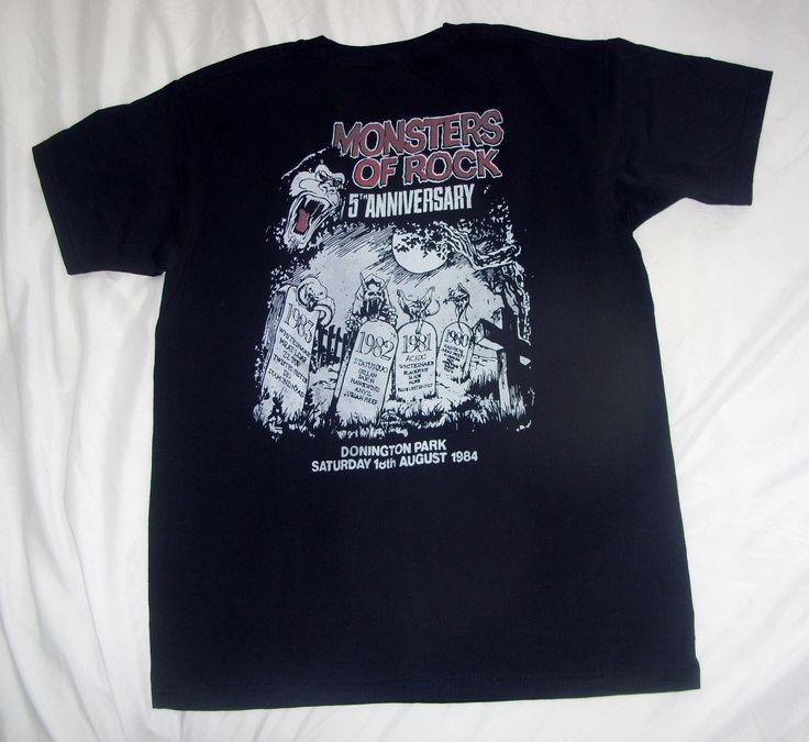 AC/DC M.O.R DONINGTON UK 1984 T SHIRT BACK | Concert T ...