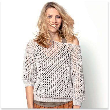 modele de pull au crochet