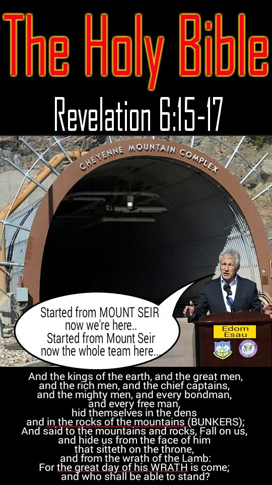 Revelation 6:15-17 And the kings of the earth, and the great men, and the rich men, and the chief captains, and the mighty men, and every bondman, and every free man, hid themselves in the dens and in the rocks of the mountains; And said to the mountains and rocks, Fall on us, and hide us from the face of him that sitteth on the throne, and from the wrath of the Lamb: For the great day of his wrath is come; and who shall be able to stand? #HebrewIsraelites GatheringofChrist.org #GOCC