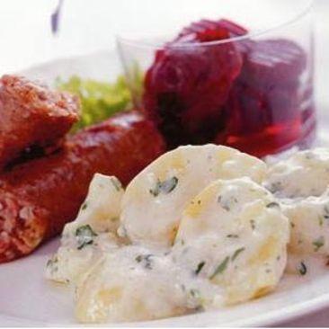 Isterband med stuvad potatis