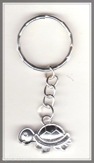Turtle Charm Silver Plated Keyring  by MadAboutIncense - $6.50