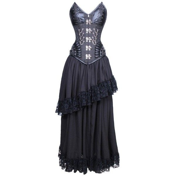 Midnight Malevolent Maelstrom Corset Dress, Plus Sizes Available (£110) ❤ liked on Polyvore featuring dresses, corsette dress, women plus size dresses, womens plus size cocktail dresses, corset dresses and womens plus dresses