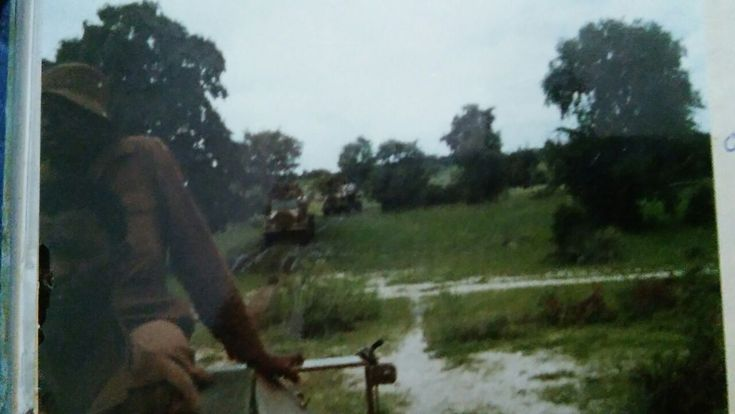 RM 14 making their way through the bush during the rainy season