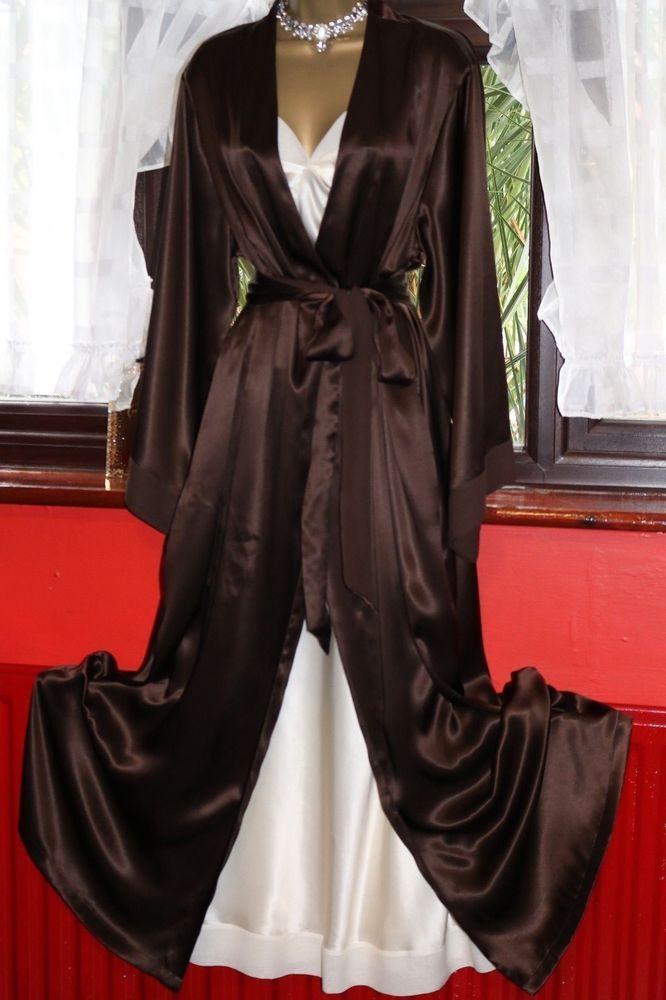 Details about M&S Ladies Sz 16/18 100% Silk Chocolate & Cream N ...
