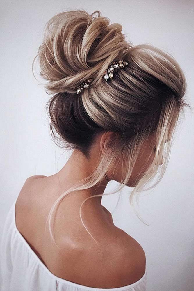 36 Trendy Swept-Back Wedding Hairstyles ❤️ swept back wedding hairstyles high volume bun on medium blonde hair tonyastylist ❤️ #weddingforward #wedding #bride #weddinghair #sweptbackweddinghairstyles