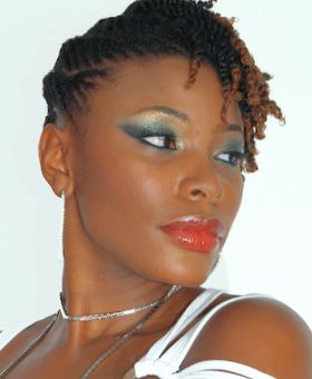 Updo Hairstyles for black women and Natural hairstyles on