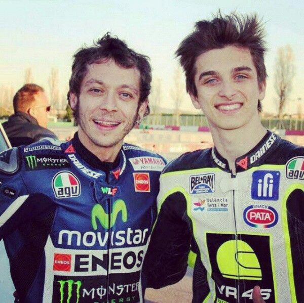 Rossi and his brother Luca Marini VR46 Riders Academy