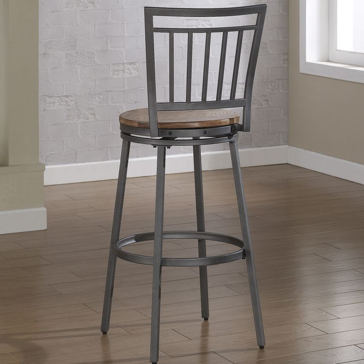 """American Woodcrafters Filmore 30"""" Swivel Bar Stool with Cushion   AllModern"""