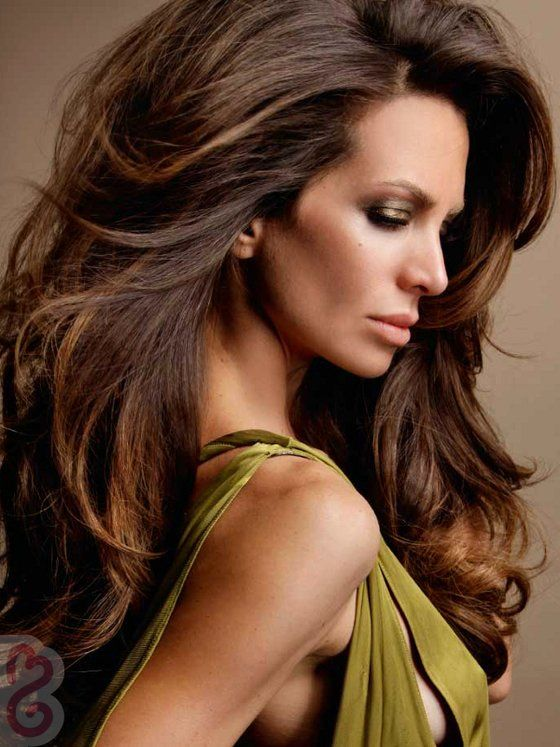 Pictures : Dark Brown Hair with Caramel Highlights - Caramel Highlights On Brunette Hair Color