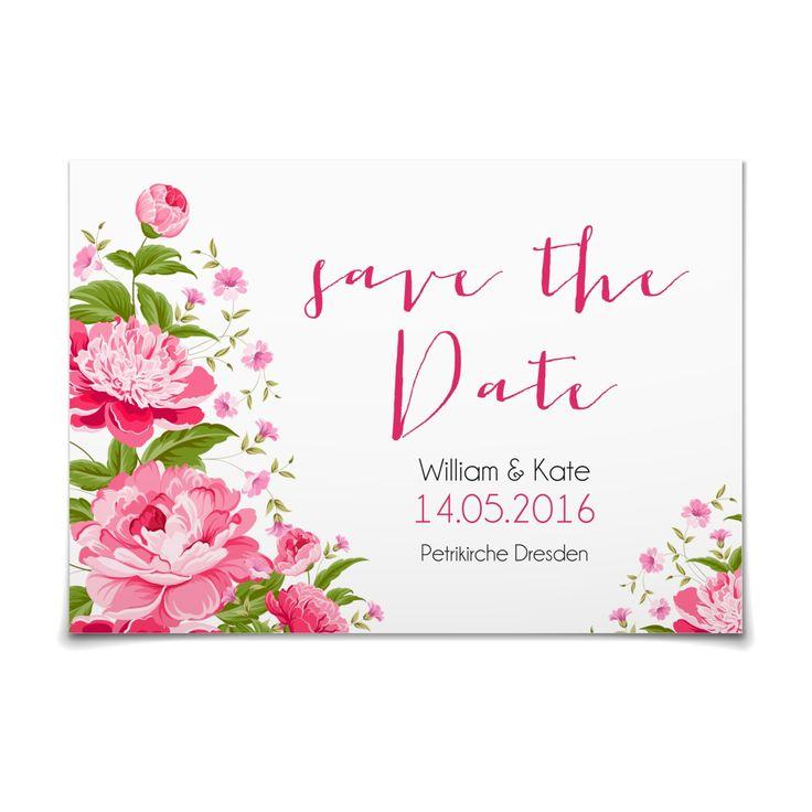 Save the Date Blütenzauber in Weiss - Postkarte flach #Hochzeit #Hochzeitskarten #SaveTheDate #kreativ #modern https://www.goldbek.de/hochzeit/hochzeitskarten/save-the-date/save-the-date-bluetenzauber?color=weiss&design=1c347&utm_campaign=autoproducts