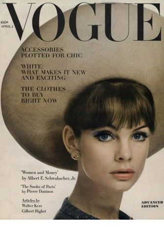 Jean Shrimpton: Vogue cover. Why don't magazine covers look this good anymore?