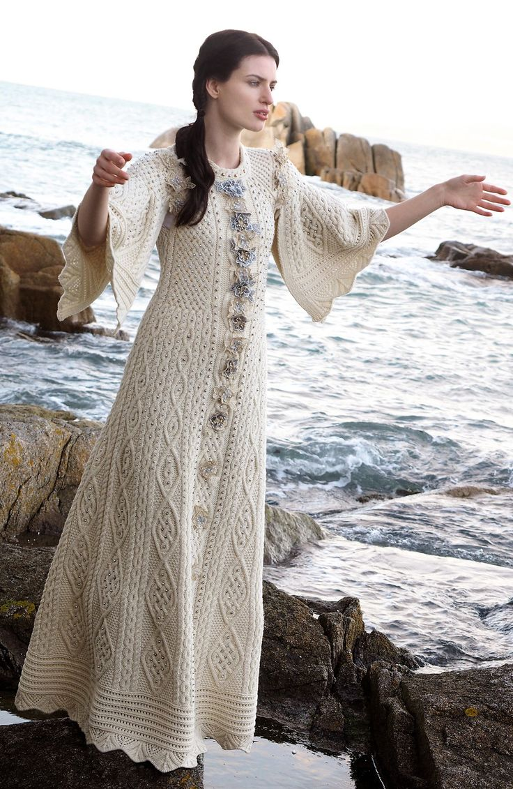 2016 Fantasy Aran Dress by Natallia Kulikouskaya for Aran Crafts of Ireland
