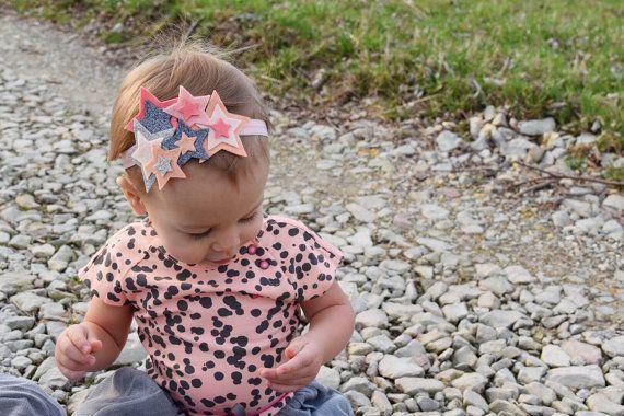 Felt Star Cluster Headband // twinkle twinkle by BakerBlossoms
