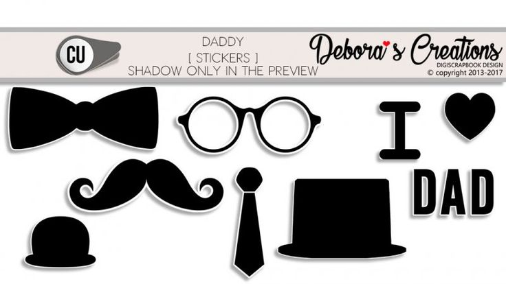Daddy Stickers by Debora's Creations CU