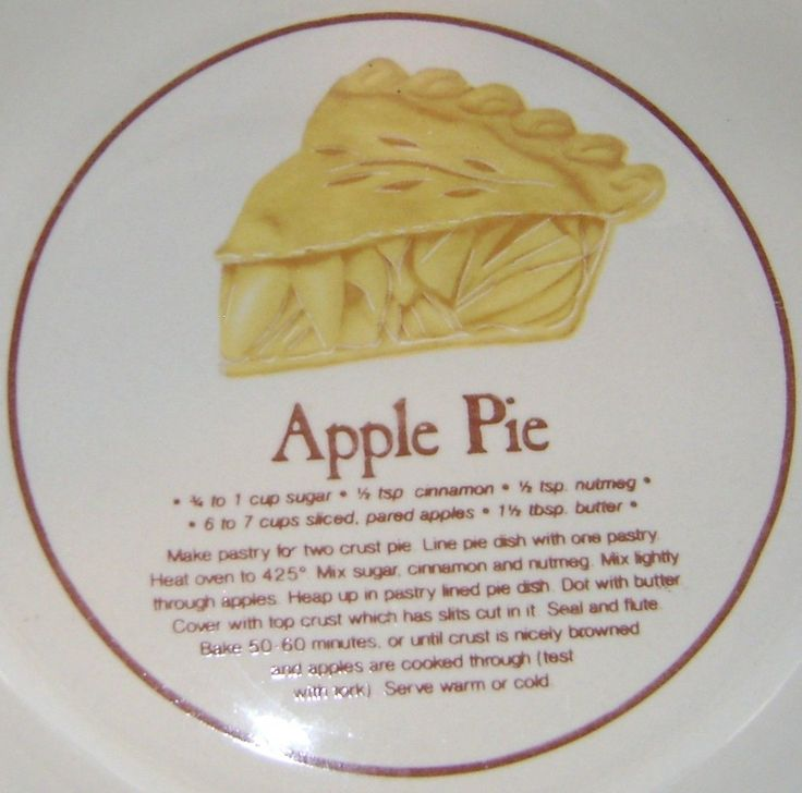 Apple Pie Plate 11\  Stoneware Pie Plate Apple Pie Recipe Bytrisa | eBay : plate pies - pezcame.com