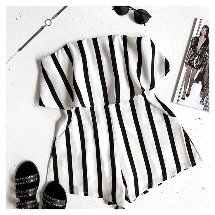 Earn your stripes! HEAT WAVE Strapless Playsuit || dissh.com.au