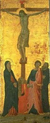 Crucifixion, Jacopo Casentino, 1340-1345. Web Gallery of Art.