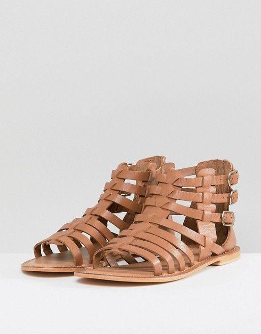 cc3bcf1c1f FOZ Leather Gladiator Flat Sandals | Art. Sensible Shoes. Hook me up!
